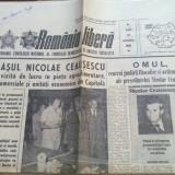Ziarul romania libera 12 octombrie 1981-vizita lui ceausescu prin capitala