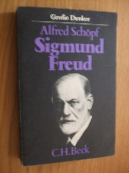 SIGMUND FREUD --  Alfred  Schopf  -   [ 1982 ,  244  p, text in lb. germana ]
