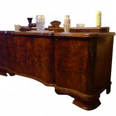 Comode (bufet mare bufet mic) din lemn de nuc arcuat fabricate in anul 1950 - Comoda living
