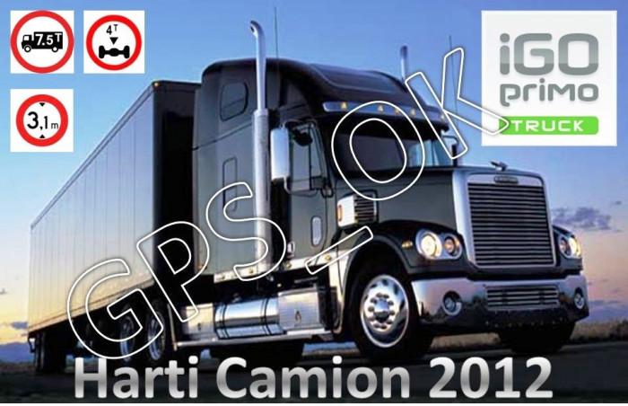 iGO Primo 2.0 Truck - Soft navigatie GPS special pentru Camioane, TIR-uri harti EUROPA si ROMANIA 2012 foto mare