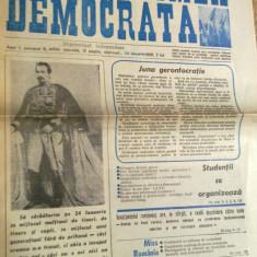 ziarul studentimea democrata   24 ianuarie 1990 (anul 1,nr.6,unirea lui cuza )