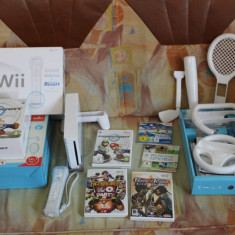 Consola Nintendo Wii + wii motion plus + 5 jocuri + garantie