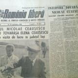 Ziarul romania libera 14 septembrie 1989 (vizita lui ceausescu in jud. iasi )