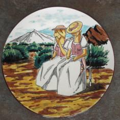 ' DOMNITELE ', farfurie DECORATIVA (ceramica pictata)