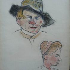 Portrete ; 3 caricaturi de Rascu Gelu, pictor consacrat din Campulung Moldovenesc, Bucovina, originar din Chisinau, Basarabia - Pictor strain