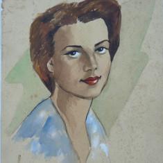Portret, Acuarela, de Rascu Gelu, pictor consacrat din Campulung Moldovenesc, Bucovina, originar din Chisinau, Basarabia, 1 - Pictor strain
