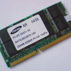 256MB PC100 SODIMM SDRAM CL2 144 pini Low density  Memorie Ram Laptop