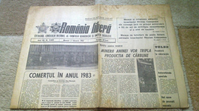 ziarul romania libera 2 februarie 1983 foto