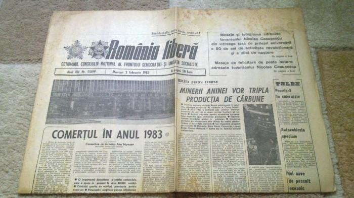 ziarul romania libera 2 februarie 1983 foto mare