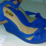 Sandale albastre Stradivarius superbe - Sandale dama, Culoare: Albastru, Marime: 36, Albastru