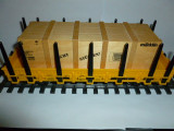Vagon platforma Marklin cu container de lemn, scara 1:32, din set 55041