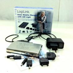 Incarcator solar mobil cu lumina Led / LogiLink/ Absolut nou