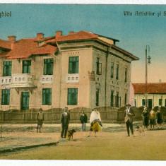 2661 - Dobrogea, TECHIRGHIOL, Vila Artistilor - old postcard - used - 1927 - Carte Postala Dobrogea 1904-1918, Circulata, Printata