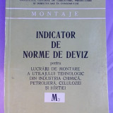 INDICATOR DE NORME DE DEVIZ PENTRU LUCRARI DE MONTARE A UTILAJULUI DIN IND.CHIMICA, PETROLIERA, CELULOZEI SI HARTIEI/M3/1983 - Carti Constructii
