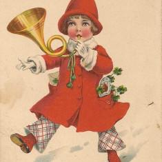 Carte postala - Felicitare, La multi ani - 1929