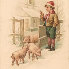 Carte postala - Felicitare, La multi ani - 1927