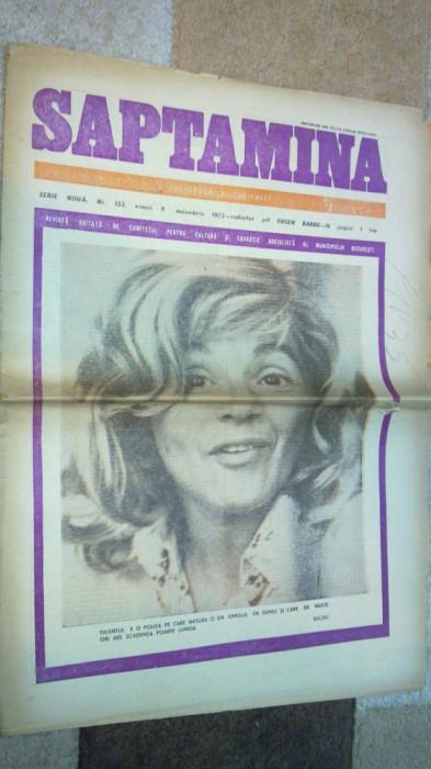 ziarul saptamana 9 noiembrie 1973