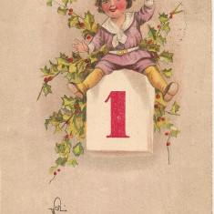 Carte postala - Felicitare, La multi ani - 1926