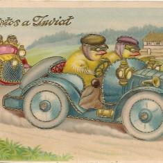 Carte postala - Christos a inviat - 1930