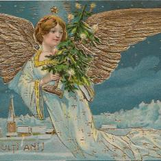 Carte postala - Felicitare, La multi ani - 1908