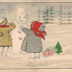 Carte postala - Felicitare, La multi ani - 1924