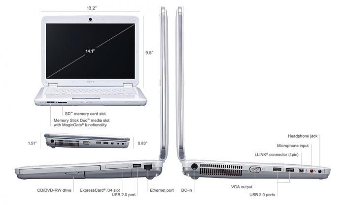 Vand Sony Vaio Alb VGN-CS-390