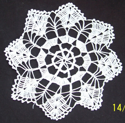 dantele identice crosetate manual din bumbac alb, model specific ramanesc, Ardeal-Alba, 1950, stare IMPECABILA foto