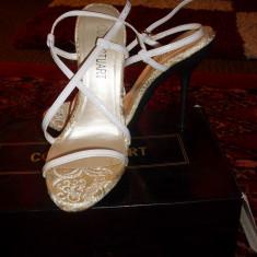 Sandale piele colin stuart/victoria's secrets - Sandale dama Victoria S Secret, Culoare: Alb, Marime: 36