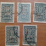 Lot 5 timbre germania perforate, Europa, Altele
