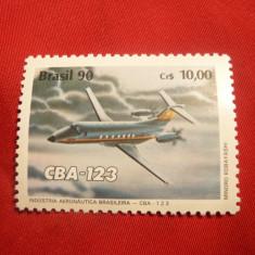 Serie - Avion - Aeronautica 1990 Brazilia, 1 val. - Timbre straine