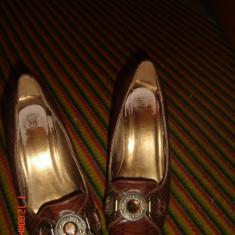 pantofi maro cu talpa ortopedica -marimea 35