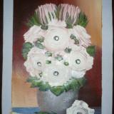 FLORI - PICTURA DIGITAL PRINT ULEI PE PANZA - Pictor strain