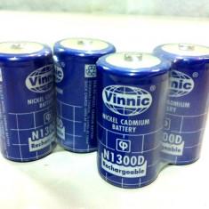 Set 2 baterii reincarcabile ( Acumulatori) R20 / Vinnic