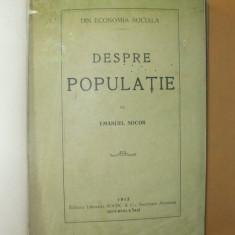 E. Socor Despre populatie Iasi 1913
