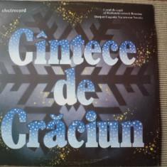 CANTECE DE CRACIUN disc vinyl lp muzica sarbatori corul de copii al rtv romania, VINIL