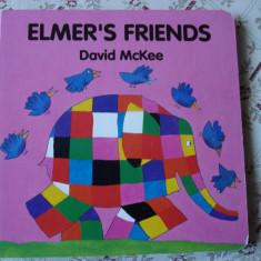 Carte educativa copii cartonata Elmer's Friends Prietenii lui Elmer elefantul story ilustrata - Carte personalizata