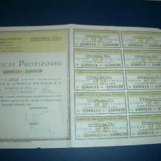 UGMR - Certificat de 10 actini in valoare de 500 lei / 1946, Romania 1900 - 1950