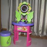Smoby - masa cu oglinda si taburet pentru fetite