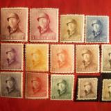 Serie- Uzuale Rege Albert I -1919-1920 Belgia, 14 val. sarniera