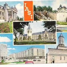 Carte postala(ilustrata)-IASI-colaj - Carte Postala Moldova dupa 1918, Circulata, Printata