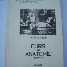 CURS DE ANATOMIE , VOL 1 ,INSTITUTUL DE MEDICINA SI FARMACIE BUCURESTI ,  FACULTATEA DE STOMATOLOGIE