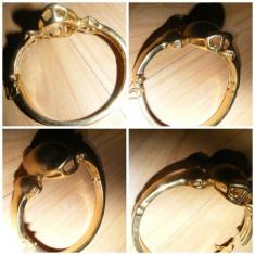 BRATARA veche aurita, foarte frumoasa, folosita, bratara dama - Bratara placate cu aur