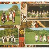 Carte postala(ilustrata)-HUNEDOARA-colaj, Circulata, Printata, Europa