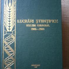 Lovrin banat lucrari stiintifice volum omagial 1946 1986 RAR agricultura carte