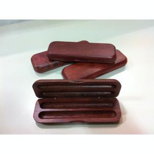 Cutie din lemn de mahon  pentru instrumente de scris - BESTAR