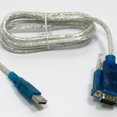 Cablu adaptor USB la RS232 interfata seriala (DB9)
