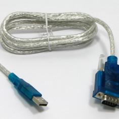 Cablu adaptor USB la RS232 interfata seriala (DB9) - Cablu PC