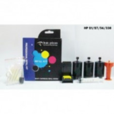 KIT pentru REFILL cartuse HP 21, 27, 56, 338 - Kit refill imprimanta
