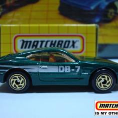 MATCHBOX-ASTON MARTIN DB 7 ++2000 DE LICITATII !! - Macheta auto Matchbox, 1:64