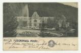 SINAIA : HOTEL CARAIMAN - clasica,circulata 1900,timbru